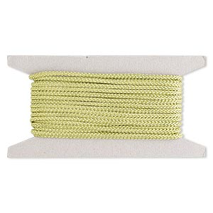 cord, nylon, lime green, 3mm round. sold per 25-foot card.