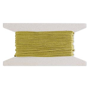 cord, nylon, olive green, 2mm round. sold per 25-foot card.