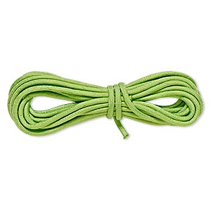cord, nylon parachute, neon green, 4mm round, 550-pound test. sold per pkg of 16 feet.