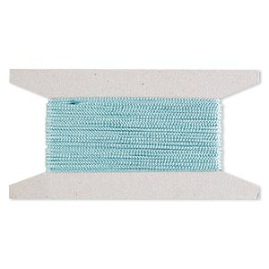 cord, nylon, turquoise blue, 2mm round. sold per 25-foot card.