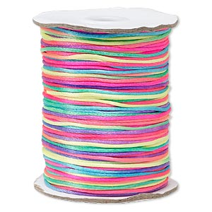 cord, satinique™, satin, confetti, 1.5mm small. sold per 400-foot spool.
