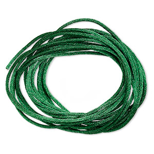 cord, satinique™, satin, dark green, 1.5mm small. sold per 400-foot spool.