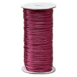 cord, satinique™, satin, dark rose, 2mm regular. sold per 400-foot spool.