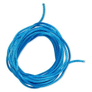 cord, satinique™, satin, dark turquoise blue, 2mm regular. sold per pkg of 10 feet.