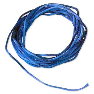 cord, satinique™, satin, royal blue, 1mm mini. sold per pkg of 10 feet.
