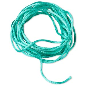 cord, satinique™, satin, sea foam green, 1.5mm small. sold per pkg of 10 feet.