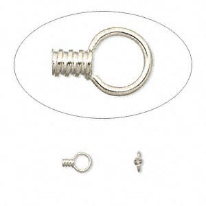 crimp, 14ktw white gold, 3x2mm tube with loop, 0.75mm inside diameter. sold per pkg of 2.