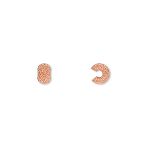 crimp cover, copper-plated brass, 5mm stardust round. sold per pkg of 500.