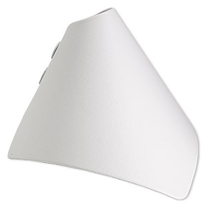 display, bracelet, leatherette, white, 3-1/4 x 3-3/8 x 4-inch wrap-around snap cone. sold individually.