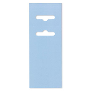 display card, paper, light blue, 3-1/2 x 2 inches with fold-over butterfly hang tab. sold per pkg of 50.