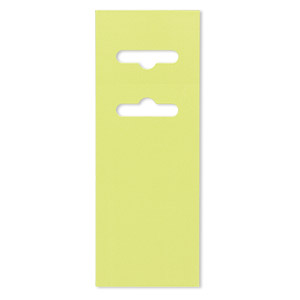 display card, paper, lime green, 3-1/2 x 2 inches with fold-over butterfly hang tab. sold per pkg of 50.