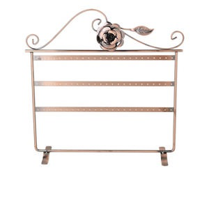 display, earring, antique copper-finished steel, 12 x 12 x 4-inch rectangle with 3 rows, fits 36 pairs. sold individually.