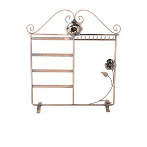 display, earring, antique copper-finished steel, 14 x 12 x 4-inch rectangle with 10 hooks, hold 24 pairs. sold individually.