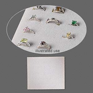 display insert, ring, foam, grey, 7-3/4 x 6-3/4 x 3/4 inches with 30 slots, fits standard half tray. sold individually.