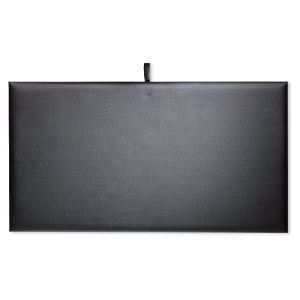 display pad, leatherette, black, 14 x 7-1/2 x 1/4 inches. sold individually.