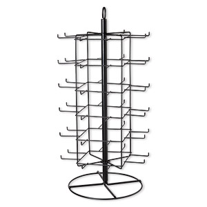 display, painted steel, black, 28-1/4 x 13-1/2 x 13-1/2 inch revolving with 48 hooks. sold individually.