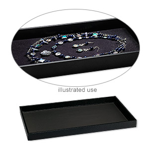 display tray, paper and composite wood, black, 14-3/4 x 8-1/4 x 1 inches. sold individually.
