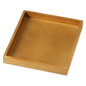 display tray, stained wood, 8-1/4 x 7-1/2 x 1-inch rectangle. sold individually.