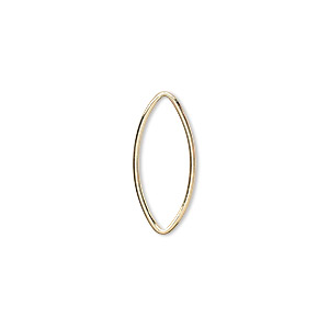 drop, 14kt gold-filled, 20x10mm oval with no loops. sold per pkg of 10.