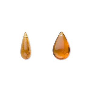 drop, baltic amber (heated), 9x4mm-16x8mm teardrop, a grade, mohs hardness 2 to 2-1/2. sold per pkg of 2.