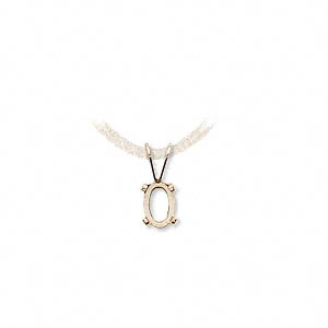 drop, cab-tite™, 14kt gold-filled, 6x4mm 4-prong oval setting. sold individually.