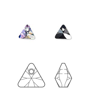 drop, swarovski crystals, crystal passions, crystal vitrail light p, 8mm xilion triangle pendant (6628). sold per pkg of 24.