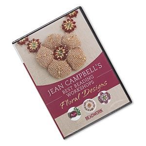 dvd, jean campbells best beading workshops: floral designs instructional video with jean campbell. sold individually.