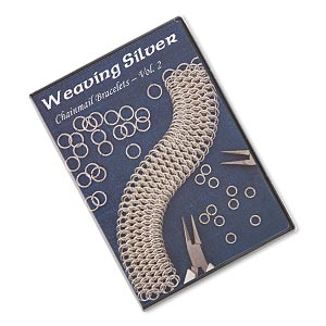 dvd, weaving silver: chainmail bracelets, vol. 2 instructional video with spider. sold individually.