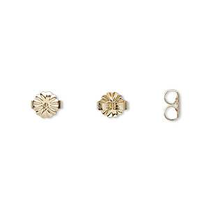 earnut, 14kt gold, medium daisy style. sold per pair.
