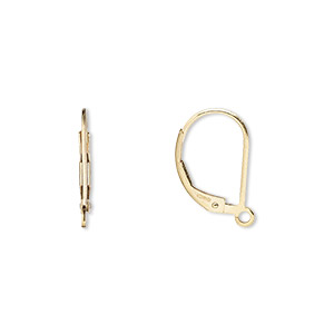 earwire, 14kt gold-filled, 15mm leverback with open loop. sold per pair.