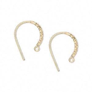 earwire, 14kt gold-filled, 16mm textured flat round with closed loop, 20 gauge. sold per pair.
