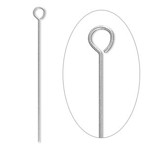 eyepin, stainless steel, 1-1/2 inches, 24 gauge. sold per pkg of 1,000.