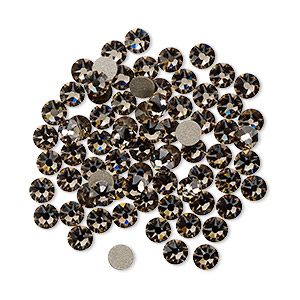 flat back, swarovski crystal rhinestone, crystal passions, greige, foil back, 3-3.2mm xirius rose (2088), ss12. sold per pkg of 12.