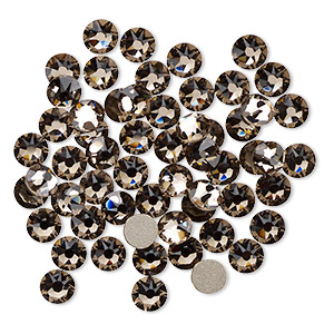 flat back, swarovski crystal rhinestone, crystal passions, greige, foil back, 4.6-4.8mm xirius rose (2088), ss20. sold per pkg of 12.