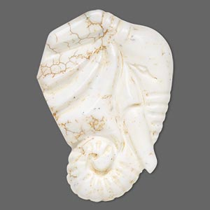 focal, magnesite (stabilized), white, 60x43mm carved elephant head, b grade, mohs hardness 3-1/2 to 4. sold individually.