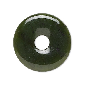 focal, nephrite jade (natural), 30mm round donut, b grade, mohs hardness 6-1/2 to 7. sold individually.