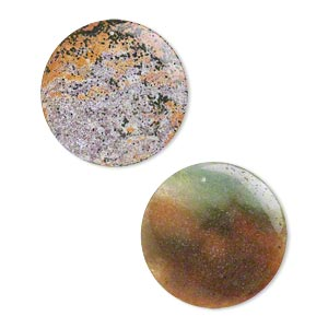 focal, ocean jasper (natural), 42mm flat round, b- grade, mohs hardness 6-1/2 to 7. sold per pkg of 2.