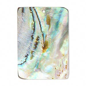 focal, paua shell (natural), 50x35mm rectangle, mohs hardness 3-1/2. sold individually.