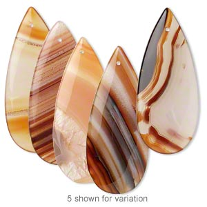 focal, red agate (dyed / heated), 46x19mm-48x21mm flat teardrop, b grade, mohs hardness 6-1/2 to 7. sold individually.