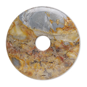 focal, venus jasper (natural), 40mm round donut, b grade, mohs hardness 6-1/2 to 7. sold individually.