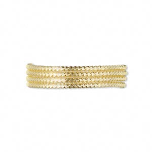 french wire, gold-plated copper, 1mm fancy tube. sold per approximately 13-1/2 to 15 inch strand.