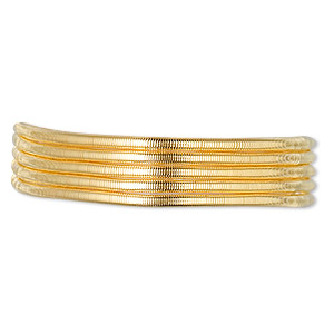 french wire, vermeil, 1.2mm tube. sold per approximately 18-inch strand.