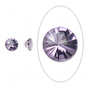 gem, amethyst (natural), 6mm buff-top round, a grade, mohs hardness 7. sold per pkg of 2.