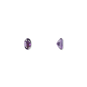 gem, amethyst (natural), light to medium, 5x3mm faceted oval, a grade, mohs hardness 7. sold per pkg of 2.
