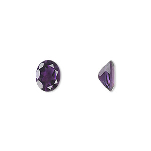 gem, amethyst (natural), light to medium, 9x7mm faceted oval, a grade, mohs hardness 7. sold individually.