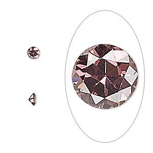 gem, cubic zirconia, alexandrite purple, 3.5mm faceted round, mohs hardness 8-1/2. sold per pkg of 5.