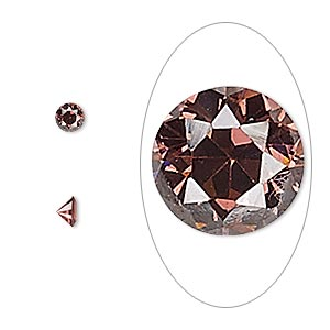 gem, cubic zirconia, alexandrite purple, 4mm faceted round, mohs hardness 8-1/2. sold per pkg of 5.