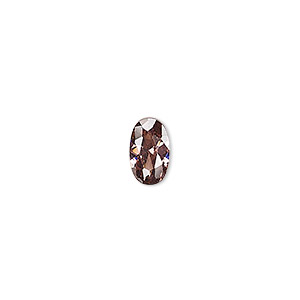 gem, cubic zirconia, alexandrite purple, 5x3mm faceted oval, mohs hardness 8-1/2. sold per pkg of 5.
