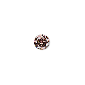 gem, cubic zirconia, alexandrite purple, 8mm faceted round, mohs hardness 8-1/2. sold individually.