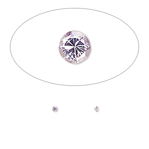gem, cubic zirconia, amethyst purple, 1.5mm faceted round, mohs hardness 8-1/2. sold per pkg of 10.